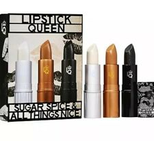 NEW LIPSTICK QUEEN Sugar Spice & All Things Nice FULL SIZE Trio SET $74 Value