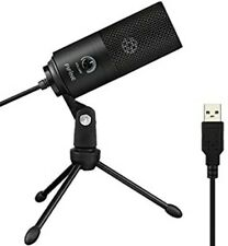 USB Microphone,Fifine Metal Condenser Recording Microphone for Laptop MAC or Win