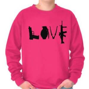 Gun Love Rifle Pro 2A 2nd Amendment Rights Womens Crewneck Sweatshirt Pullover