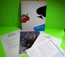 Williams Slot Machine Press Photo Plus Promo Sheets Draw Poker Casino Games 1993