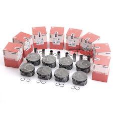 8pcs Pistons & Rings Kit STD For Porsche Cayenne Panamera S 9PA1 970 M48 4.8L