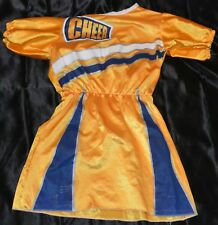 Cheer Leader Outfit Full Halloween Costume Fits Kids Size 6-7 Girls Dress School