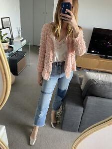 Pink Zara Tweed Jacket Size Medium