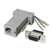 Modular Adapter: DB9 serial F Female to RJ-11/12 Phone Line adapter Single
