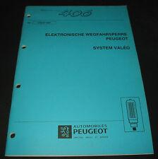 Werkstatthandbuch Peugeot 406 Elektronische Wegfahrsperre System Valeo 12/1997