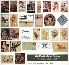 Sew Crafty - 93 Printable Labels (Paper or Fabric) - CD
