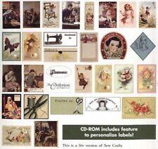 SEW CRAFTY - 93 étiquettes imprimable (papier ou tissu) - CD