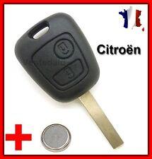 Coque PLIP Télécommande Clé Boitier CITROEN C1 C2 C3 C4 C5 + lame Vierge + Pile