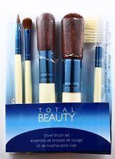 TOTAL BEAUTY travel brush set 5 MAKE UP BRUSHES