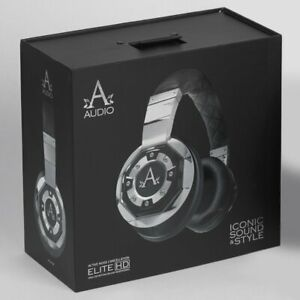 A-Audio A01 High Definition Headphones Noise Cancelling Black/Liquid Chrome NEW