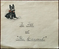 "Valentine's Series Vintage Scotty Dog Letter Paper Letter To All at ""The Convent"