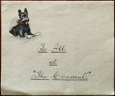 """Valentine's Series Vintage Scotty Dog Letter Paper Letter To All at """"The Convent"""