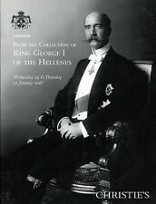 Collection King George Greece - Russia Antique Tableware Furniture Painting Book