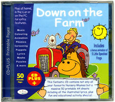 Down on the Farm CD of kids favourite nursery songs + 50 printable pages NEW