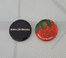 2 x ACROSS THE UNIVERSE - PIN BADGES # BEATLES FILM # METAL # NEW / RARE #