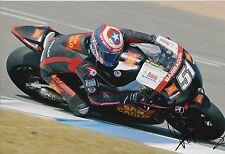 Michele Pirro firmato a mano SAN CARLO HONDA GRESINI 12x8 foto MOTOGP 1.