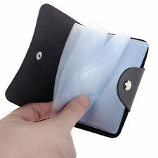 PU Leather Cards Business Name ID Credit Card Holder Book Case Keeper Organizer