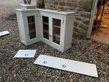 Shaker Style Glazed Corner kitchen cabinets With Under Lights
