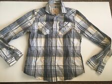 Holister Mens Plaid Check Long Sleeve Button Front Shirt Size Large