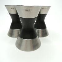 OXO Double Jigger Bar Measuring Shot Stainless Steel Mixer Cocktail X 3 LOT