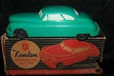 Vintage 1940's Kenton Toy Battery Operated Hard Plastic Car w/Box & Instructions