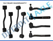 (8pc) Front Inner Outer Tie rod Sway Bar Link kit 1999-2004 Jeep Grand Cherokee