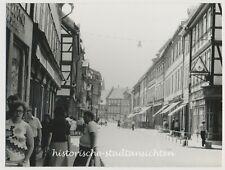 Werningerode - Einkaufsstraße Fachwerk Passanten Geschäfte - Altes Foto 1976