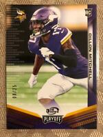 Dillon Mitchell RC 2019 Panini Playoff 3rd Down SP Rookie #D 08/25 Vikings