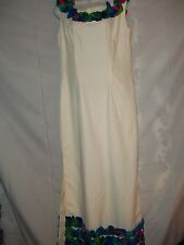 Size L Vintage Hawaiian Dress Made By Sidney Honolulu Long 60's Era Gown
