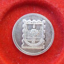 MEDALLA FERIA NACIONAL DEL SELLO OLIMPICOS PLATA PLAZA MAYOR MADRID SC