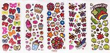 3D children's cartoon bubble stickers love heart/butterfly 5pcs/lot gift
