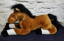 Aurora Large Brown White Horse Pony Plush Stuffed Animal