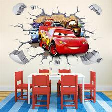 CARS 3D Broken Wall Window Sticker Decal Kids Art Finish size 90x60 cm