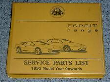 1993 Lotus Esprit Service Parts List Repair Manual S4 S4s Sport 300 V8 SE GT