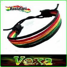 New Bracelet Rasta Reggae Wristband Bob Marley Jah Lion One Love Cotton ska BR01