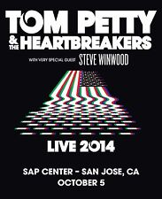 Tom Petty & The Heartbreakers / Steve Winwood 2014 San Jose Concert Tour Poster