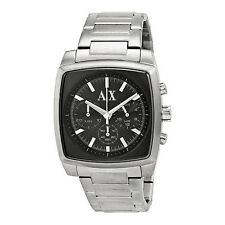 BRAND NEW ARMANI EXCHANGE AX2253 SMART BLACK & SILVER STAINLESS STEEL MENS WATCH