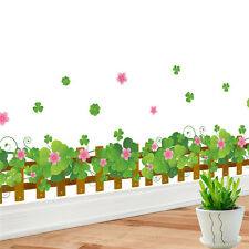 Wall Stickers Clovers Pattern Wall&paper Mural Removable Decals Glass Home Decor