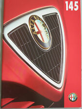 Alfa Romeo 145 brochure Aug 1997