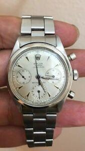 Rolex Vintage Pre-daytona Chronograph 6234 Stainless Steel Watch Very Rare