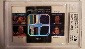2003-04 Upper Deck Exquisite Collection Foursomes Marbury/Davis/Kidd/Nash /10