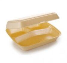 HP4/3 Polystyrene Takeaway Food Boxes **choose 50/100/175