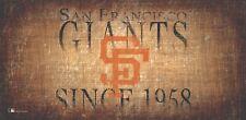 "San Francisco Giants Throwback Retro Heritage Est 1958 Wood Sign 12"" x 6"" Decor"