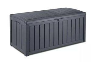 XL Keter 390L Outdoor Garden Weatherproof Storage Deck Pool Box Chest UV Stable