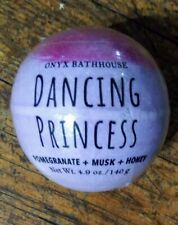 Onyx Bathhouse Dancing Princess Bath Bomb Pomegranate Musk Honey New In Plastic