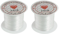 2 Rolls of Elastic Crystal White String Cord Jewelry Beading Thread 8 yards sale