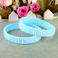 BTS BANGTAN BOYS *BLUE* ARMY WRISTBAND - UK KPOP K-POP