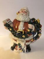 Santa Christmas Ceramic Pealized Christmas Teapot by Department 56 Gifts for Mom