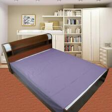 Waterproof Plastic Mattress Protection Sheet King Size - 7.5 x 6.5 ft Blue KU