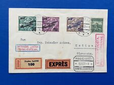 Czechoslovakia 1927 Registered Express Cover